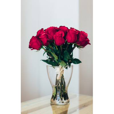 15 Red Roses 50cm
